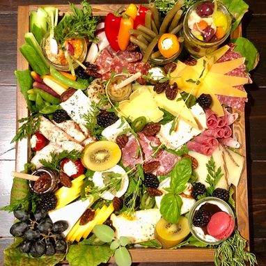 Custom Made Custom Charcuterie Board | Covid Serving Tray | Farmhouse Serving Tray