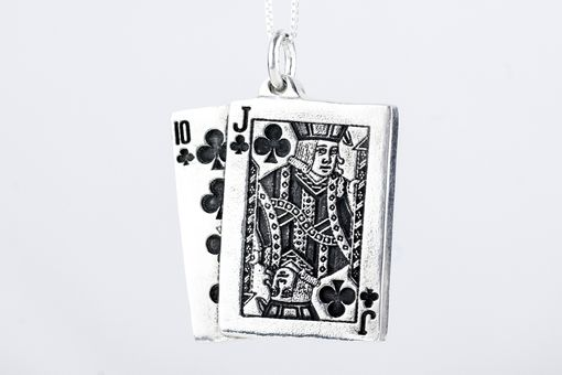 Custom Made Playing Cards Poker Blackjack Necklace