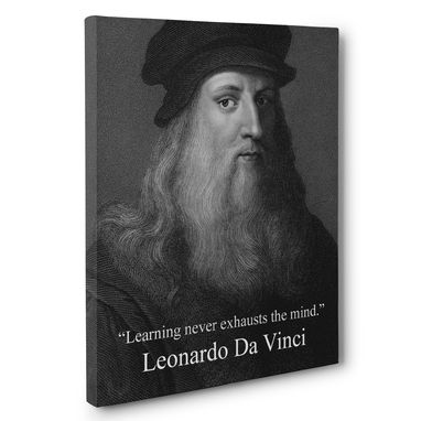 Custom Made Learning Never Exhausts The Mind Leonardo Da Vinci Canvas Wall Art