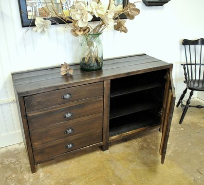 Custom Made Reclaimed Wood Painters Console