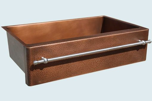 Custom Made Copper Sink With Stainless Towel Bar
