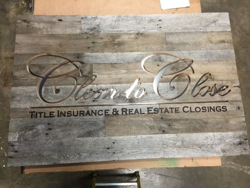 Custom Made Rustic Reclaimed Wood Business Logo Sign