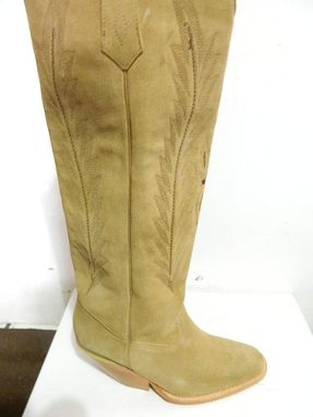 Custom Made Suede Camel Round Toe Boots Comfortable And Great Looking Boots Any Size, Color