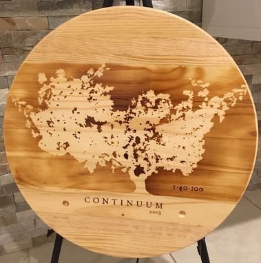 Custom Made Wine Panel Lazy Susan 100% Handcrafted Continuum Theme.