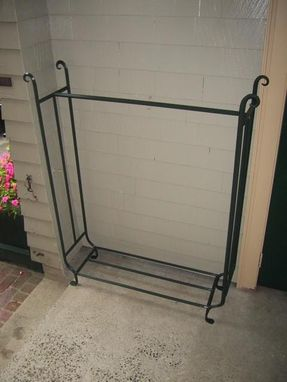 Custom Made Forged Iron Wood Rack