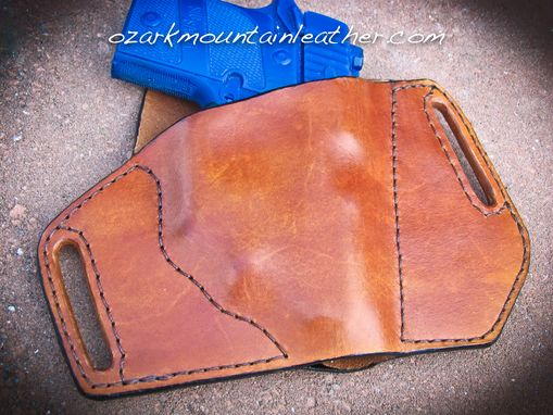Custom Made Custom Leather Holster For Sig Sauer P938 With Laser Light Scope