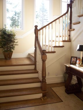 Custom Made A Classic Traditional Staircase