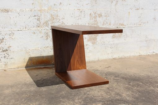 Custom Made Cantilevered Walnut Table