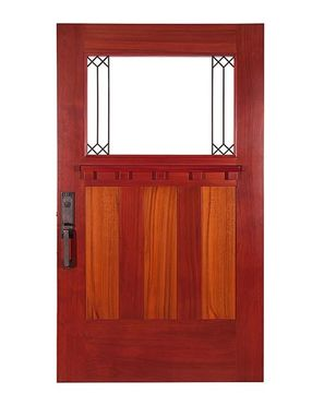 Custom Made Handmade Craftsman Redwood Doors
