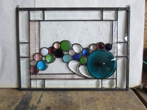 Custom Made Jeweled And Beveled Window