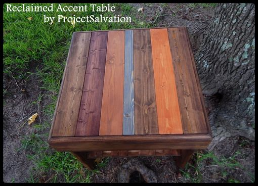 Custom Made Reclaimed End Table / Accent Table
