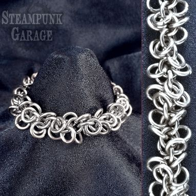 Custom Made Bracelet - Shaggy Loops - Stainless Steel Metal Chainmaille Jewelry