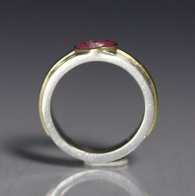Custom Made 1 Stone Oval Wrap Ring 14k (Pink Cz)