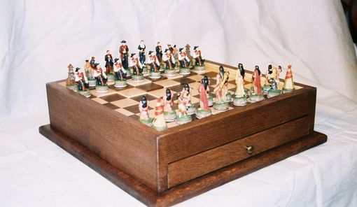 Custom Made Cowboys And Indians Chess Board
