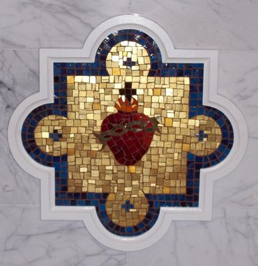 Custom Made Sacred Heart Mosaic