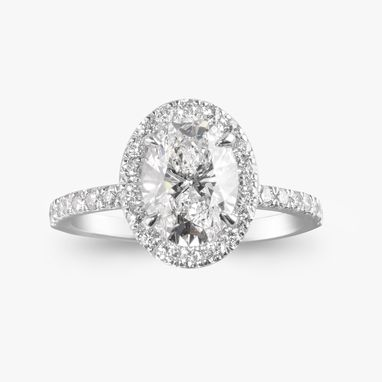 Custom Made Oval Diamond Engagement Ring