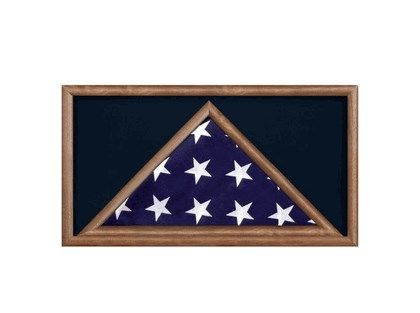 Custom Made Burial Flag Display Cases - Flag Shadow Box