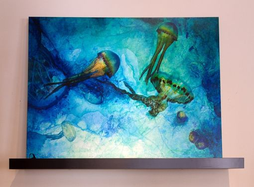 Custom Made Dreaming Jellies - Mixed Media Canvas Print