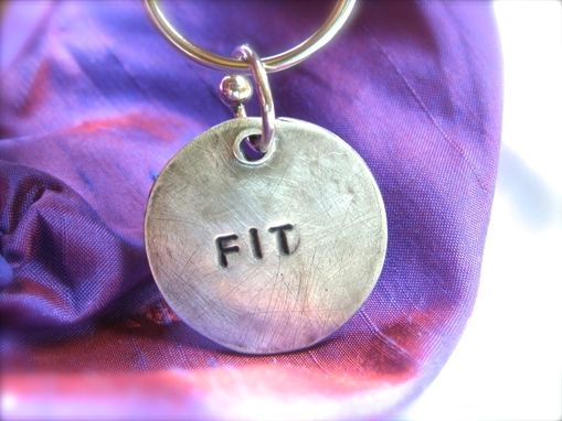 Custom Made Fit Fine Silver Sterling Silver Men's Women's Keychain Keyring