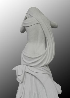 Custom Made Diaco Custom Lovely Lady Marble Statue On Base