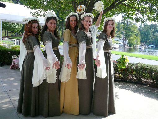 Custom Made Simple Medieval Bridesmaid Gown
