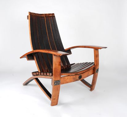 Custom Made Red Wine Barrel Chair