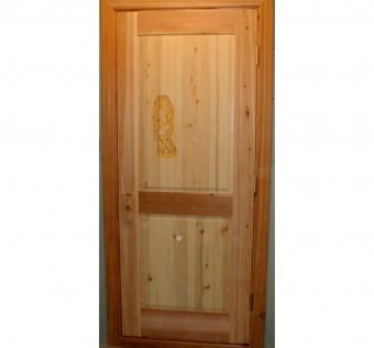 Custom Made Cedar Sauna Door