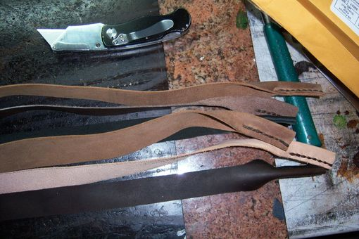 "Custom Made Leather Glasses Straps Like A ""Croakie Style"" Glasses Straps But 100% Leather"