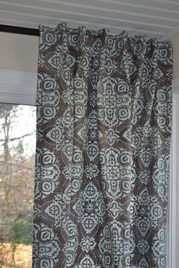 Custom Made Pair Of Decorative Designer Window Curtains/ Drapery Panels In Braemore Jakarta