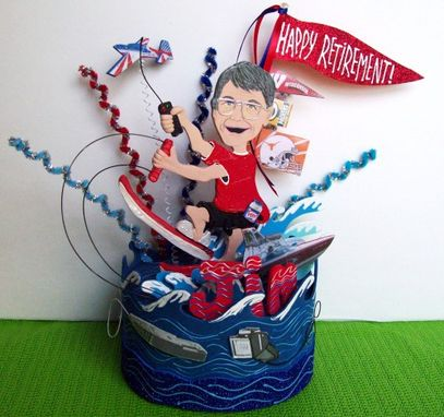 Custom Made Retirement Gift For Man, Thank You Gift For Boss, Custom Retirement Cake Topper