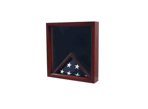 Custom Made Casket Flag Case And Medal, Casket Medal Flag Display