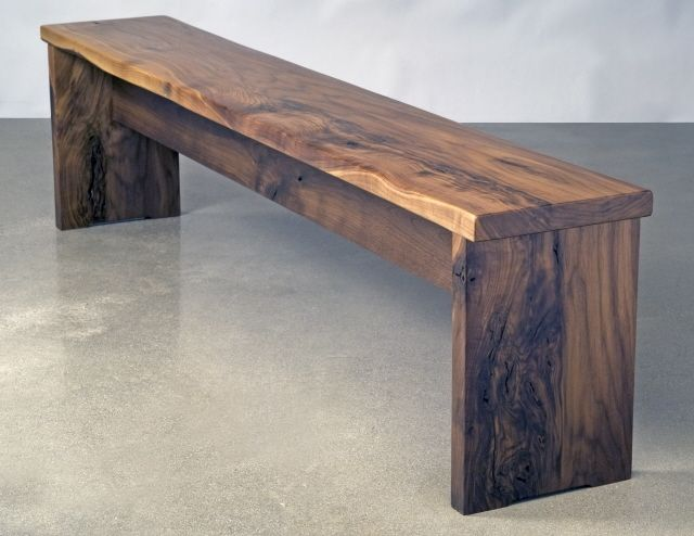 Hand Crafted Walnut Bench By Eben Blaney Fine Furniture
