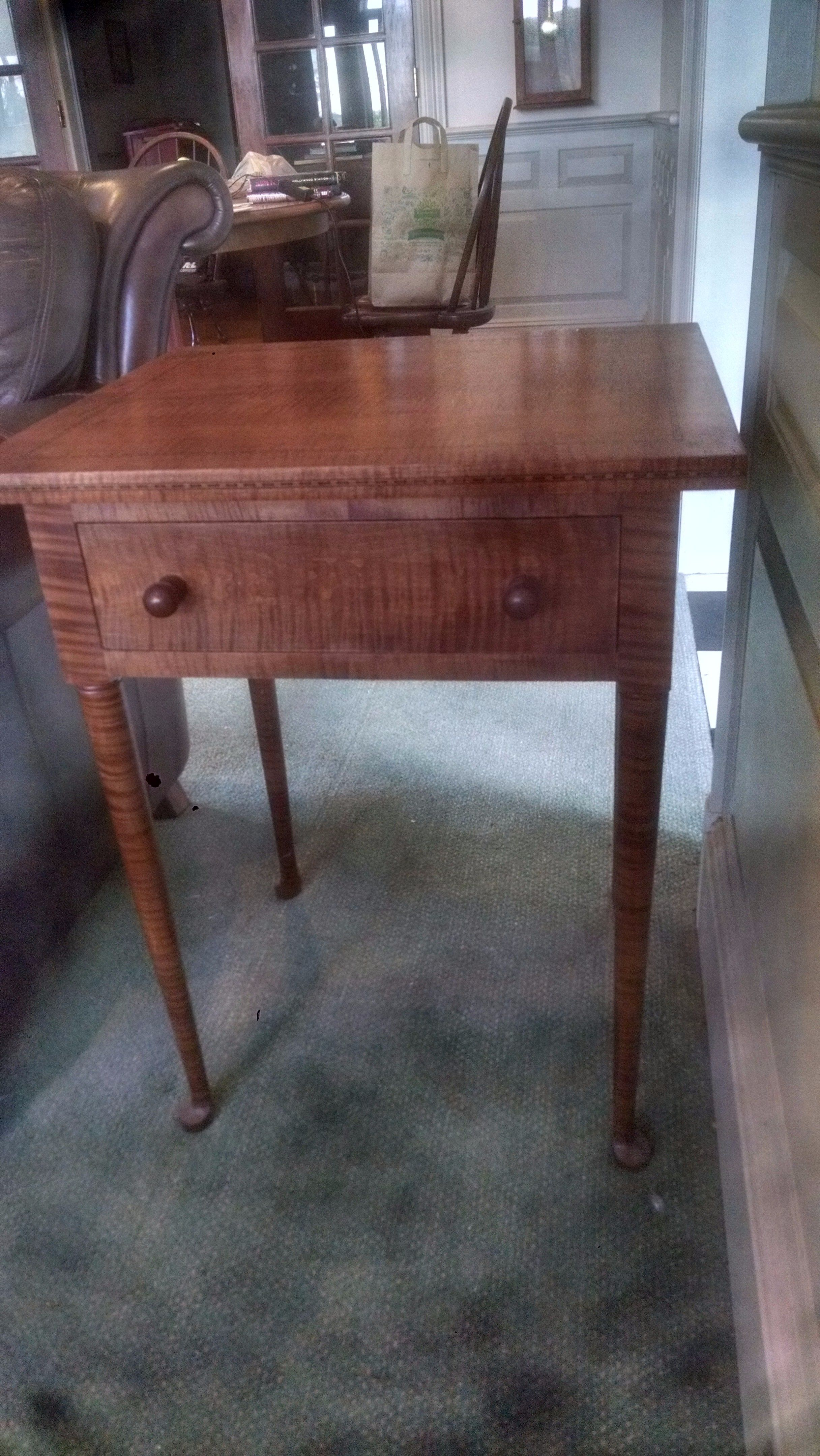 Buy A Hand Crafted Inlaid Tiger Maple Nightstand Made To