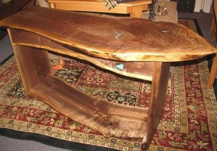 Custom Made Highly-Figured Walnut Console