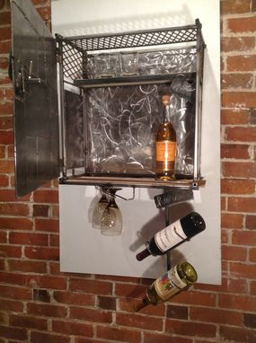 Custom Made His & Hers Whiskey Cabinet And Wine Rack