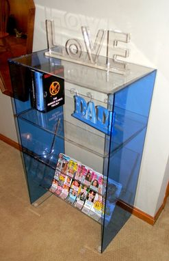Custom Made Lucite-Acrylic Book Case, Magazine Rack. Display Shelf
