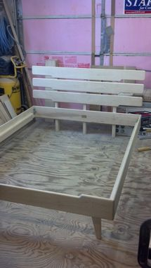Custom Made Wooden Queen Platform Bed