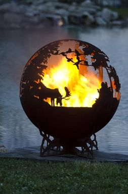Custom Made Custom Up North Fire Pit Sphere - 37 Inches