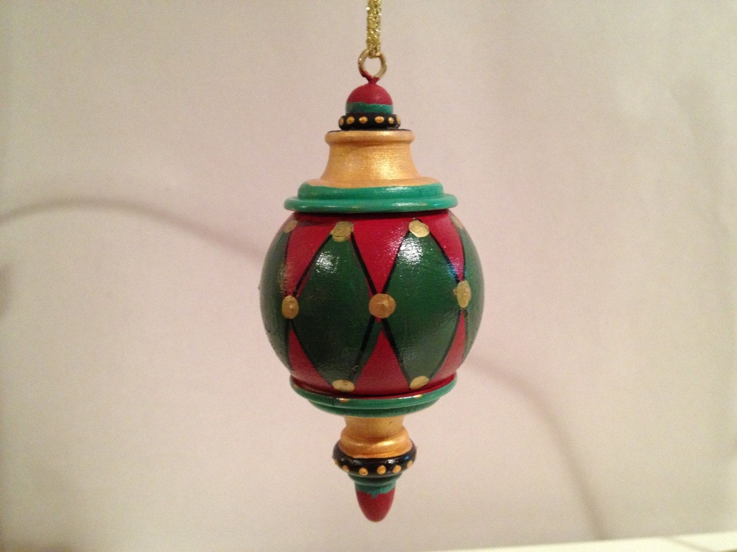 Hand Made Hand Painted Solid Wood Christmas Finial Ornaments This Price Is  For One (1) Ornament By Michele Sprague Design  Custommade