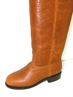 Custom Made Saddle Tan 37 Inches Tall Boots Made To Order Any Size Available Ask For Smaller