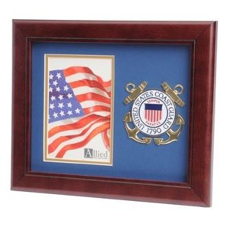 Custom Made U.S. Coast Guard Medallion Portrait Picture Frame