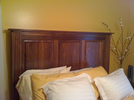 Custom Made Walnut Headboard