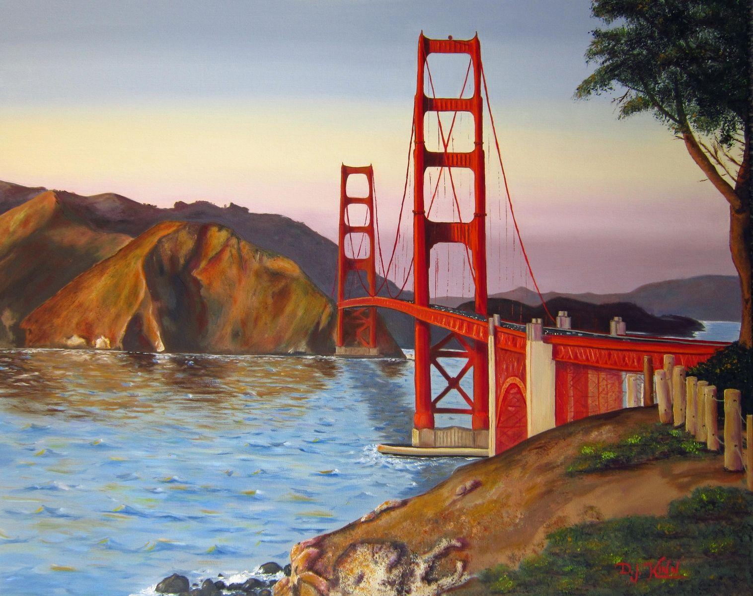 Custom Made Golden Gate Bridge Oil Painting