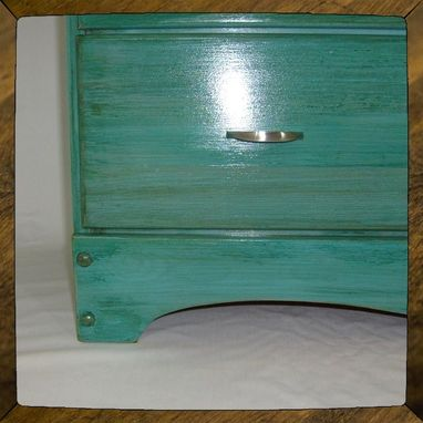 "Custom Made Turquoise Dresser, Furniture - Custom ""Blue Bayou"" Finish"