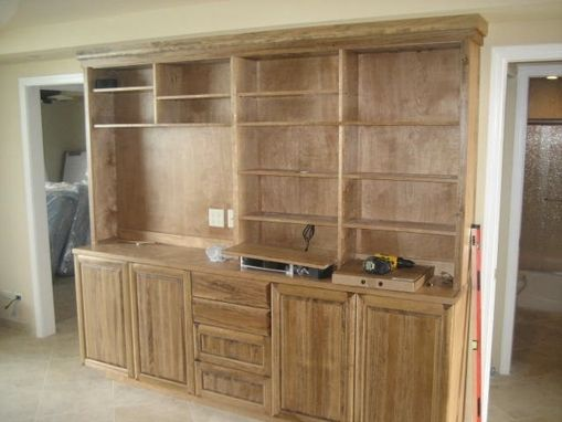 Custom Made Stained Poplar Media Center