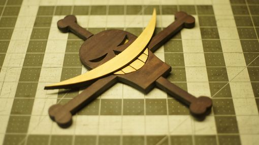 Custom Made Wooden One Piece White Beard Jolly Roger