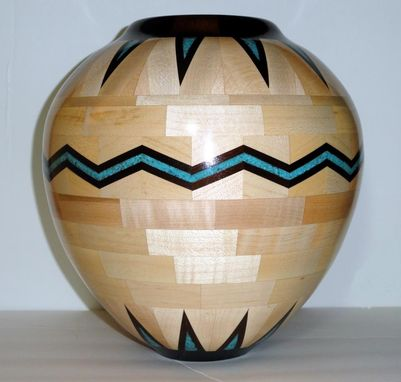 Custom Made Large Inlay Vase
