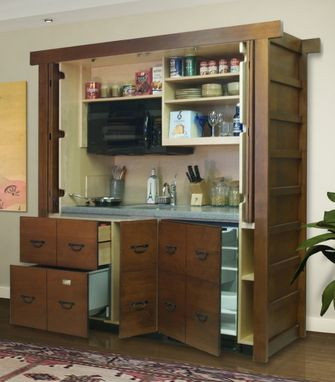 Custom Made Asian Style Stealth Mini-Kitchen