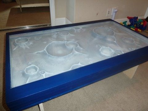 Custom Made Moonscape Coffee Table
