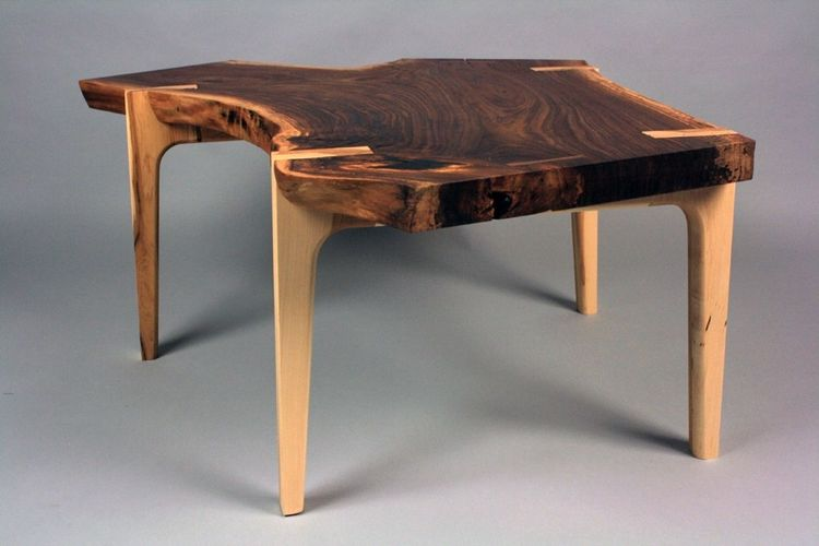 hand crafted live edge walnut coffee tablewheelers studio inc